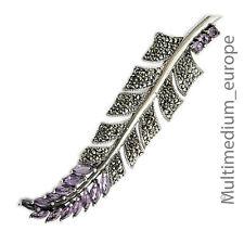 vintage Silber Brosche im Art Deco Stil d. 30er Jahre Markasit silver pin brooch