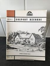 GOSPORT RECORDS ISSUE 5..NOVEMBER 1972..PB EX HAMPSHIRE  HISTORICAL
