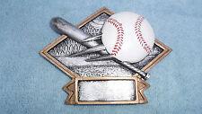 Baseball trophy resin diamond plate full color Dps60