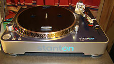 Stanton T50 DJ Turntable /Cartridge /Shure M25C needle - RCA Cables/PDF Manual