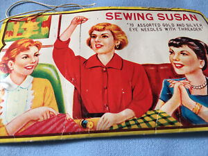 Sawing Susan HAPPY HOME RUST PROOF NEEDLE BOOK NICKLE PLATED NEEDLES Book