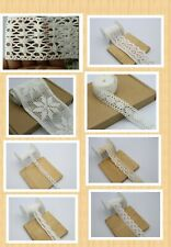 5 M white and Cream Scalloped And Broad crochet Vintage like Sewing lace trim