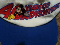 Cap/Hat-Disneyland 40 Years of Adventure Anniversary 40 years RARE Adult Disney