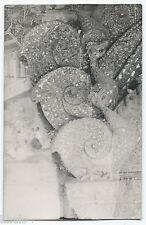 BM348 Carte Photo vintage card RPPC Indochine bas relief temple détail sculpture