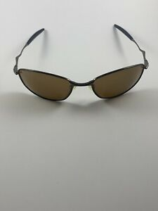 Oakley Whisker 1.0 Titanium Brushed Chrome Tungsten Iridium 05-765 Wire RARE