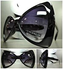 OVERSIZE EXAGGERATED HUGE VINTAGE Style SUN GLASSES Large Black Bow Shape Frame
