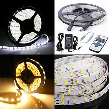 1M-20M 5M Super Bright 5630SMD White Flexible Light Strip DC 12V Adapter 60LED/M