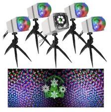 New Orchestra Of Lights Christmas LED Projection Set 5 Spotlights & Speaker Show
