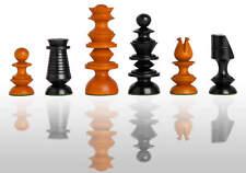 "The Georgian Luxury Chess Set - Pieces Only - 4.4"" King  - Ebonized Boxwood and"