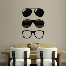 Wall Decal Glasses Style Eyes Sun Fashion Ray bedroom vinyl decor M297