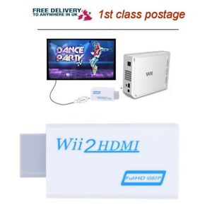 Wii to HDMI Adapter Full HD 1080P HD Audio 3.5mm Jack Output Converter Adapter
