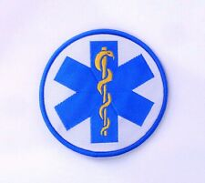 """Star of Life Patch 3"""" Paramedic Sew On Embroidered Shoulder/Chest Badge B2 MA29"""