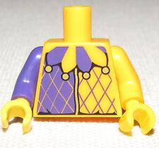 LEGO NEW ORANGE AND PURPLE JESTER MINIFIGURE TORSO