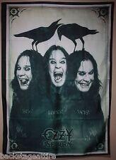 Ozzy Osbourne Black Sabbath Cerberus Raven 30X40 Cloth Fabric Poster Flag Banner