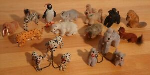 Max Carl Tiere großes Konvolut beflockt Hunde, Pinguin, Elefant, Zebra,Eisbär,