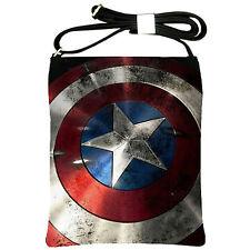 NEW Arrival Captain America Shield Marvel Shoulder Sling Bag Purse Girl Handbag