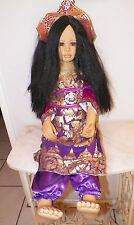 "Catharina & Dur S Demi Saptono Ltd Ed 130/600 polynesische Puppe Porzellan 36"" hoch"