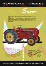 Porsche Diesel Super Tractor Advertising Poster (A3)