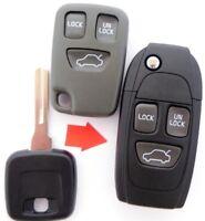 Auto Klappschlüssel Leergehäuse für Peugeot 206 Citroen AX Rohling NE73 2 Tasten