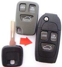 Plegar Llave Conversión Carcasa NE66 Volvo C70 S70 V70 XC70 850 960 3 Botones
