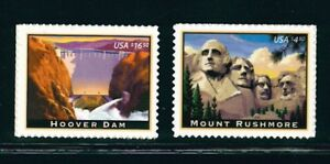 US Scott #4268 & 4269 Hoover Dam & Support Rushmore Ensemble Singles MNH