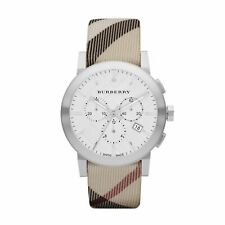 Burberry Nova Check Silver Case Wrist Watch (BU9357)