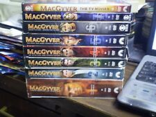 (8) MacGyver Season DVD Lot: Seasons 1-7   + TV Movies   w/Slipcovers