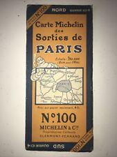 Ancienne Carte Routière Michelin Numéro 100 Sorties De Paris Années 30 Rare