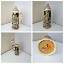 More details for vintage german - 1pint beer stein tanker pewter lid plays music musical