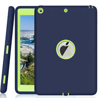 "For 9.7"" Apple iPad 5th Generation Tough Rubber Heavy Shockproof Hard Case Cover"