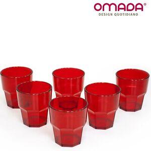 6 Bicchieri in Plastica per Cocktail Impilabili Infrangibili Omada Design 300ml