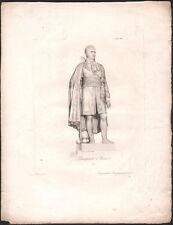 XIXe Rare gravure Louis Napoléon Bonaparte