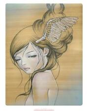 """Audrey Kawasaki """"I'll Stay Here"""" embossed spot-varnished print MINT CONDITION"""