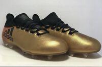 Adidas Mens Size 11 X 17.2 FG Techfit NSG Metallic Gold Black Soccer Cleats