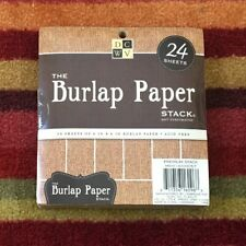 "The Burlap Paper Premium Stack by DCWV 24 pieces 6""x6"" Acid-Free Not Perforated"