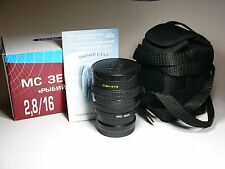 FishEye MC Zenitar-M 2.8/16mm for Panasonic micro 4/3 MFT-mount.NEW.M42+adapter