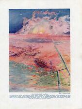 c1900 PLANET MARS LANDSCAPE Antique Litho Print W.Bolsche