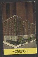 1940s HOTEL ANNAPOLIS WASHINGTON DC POSTCARD