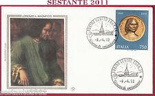 ITALIA FDC FILAGRANO GOLD LORENZO DE MEDICI IL MAGNIFICO 1992 ANNUL. TORINO S232