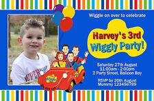 Personalised Wiggles Dorothy the dinosaur Boys Girls Party Birthday Invitations