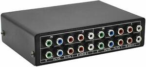 Aobelieve 3-Way Component Switch RGB Switcher 3 in 1 Out YPbPr Video L/R Audio S