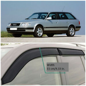 AE11290 Window Visors Vent Wide Deflectors For Audi 100 Avant 4A,C4 1990-1994