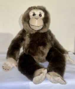 Monkey Plush Stuffed Animal FAO Schwarz Chimpanzee Super Soft High Quality