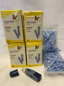 500+ Freestyle Lite Lancets exp 11/2021 -1/2024 with Lancing Device
