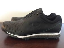 Under Armour Tempo Tour Golf Cleats Shoes Black Blue Size 10 (1270205-011)