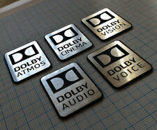 DOLBY Metallic Sticker Badge Set - 5 pieces - Aluminum