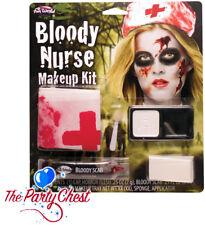 BLOODY NURSE MAKEUP SET Halloween Horror Hospital Doctors Face Paint Set 9422N