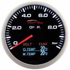 DEPO racing 60 mm Smoked Oil Pressure, Volt, Oil Temp and Water Temp Multi Gauge