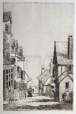 Etching attrib. to Cecil Tatton-Winter (1895-1954) Clovelly steps and sea view