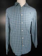 Beautiful Men's XL Munsingwear Penguin Blue Plaid Button Shirt GUC